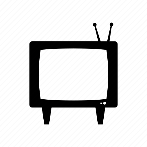 display, monitor, old, screen, television, tv icon