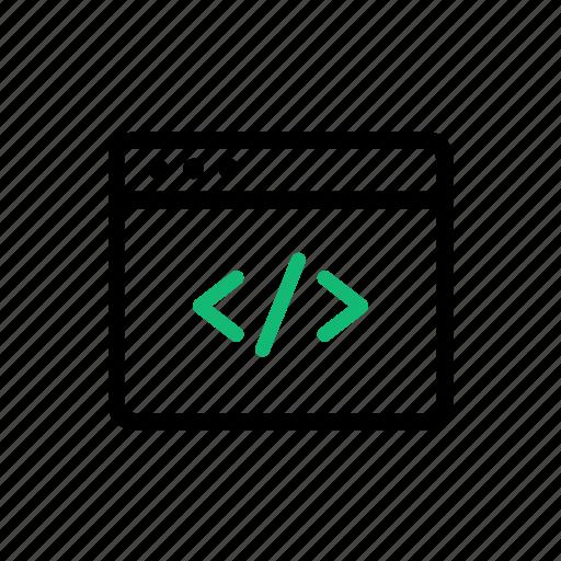 browser, coding, computer, development, internet, programming, web icon