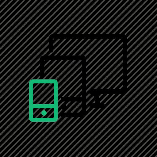 computer, device, interlock, mobile, sync, synchronization, tablet icon
