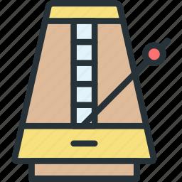 devices, metronome, pendulum icon