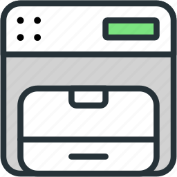 devices, fax, office, phone icon