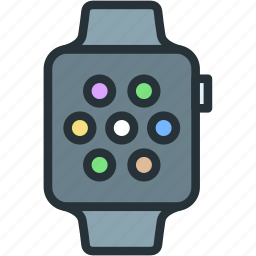 apple, devices, smart, watch icon
