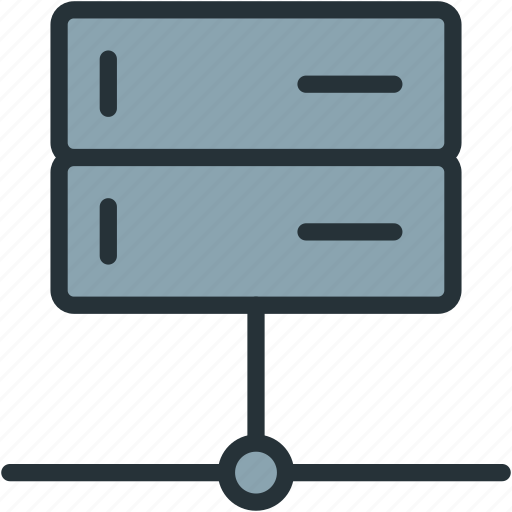 admin, data, devices, server, signal icon