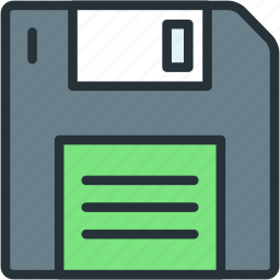 data, devices, disk, diskette, floppy, save icon