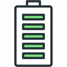 battery, charge, devices, full, status icon