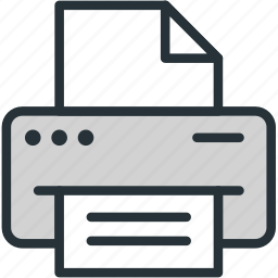 copy, devices, office, prin, printer icon