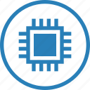 chip, components, cpu, electronics, hardw icon