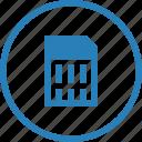 card, disck, electronic, memory, microsd, sim icon