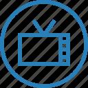 live, television, tv icon