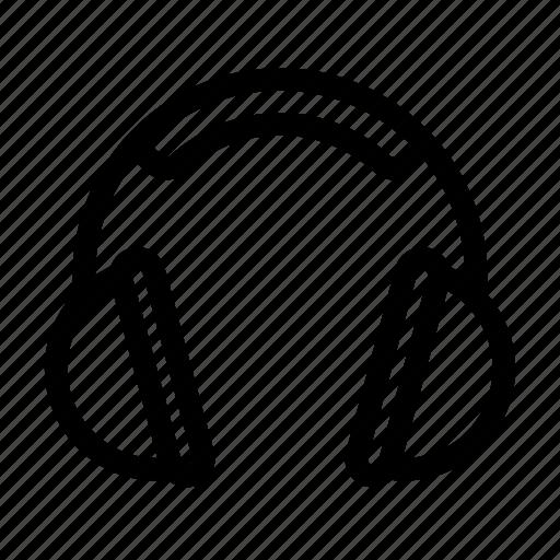 audio, ear, headphones, media, music, sound icon