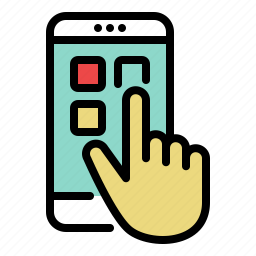 app, hand, mobile, phone, smartphone, touch icon