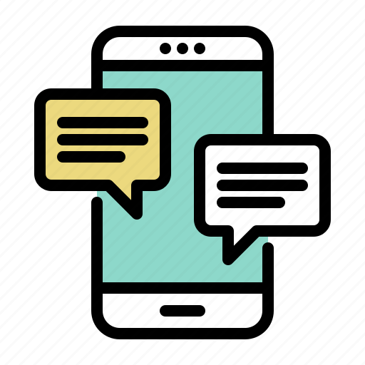 chat, messaging, mobile, phone, smartphone, talk icon