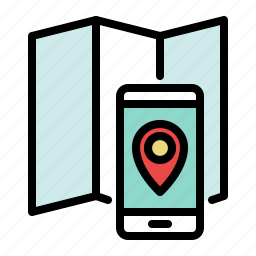 address, location, map, marker, mobile, phone, smartphone icon