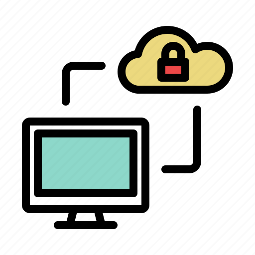 Cloud, computer, locked, secure, storage icon - Download on Iconfinder