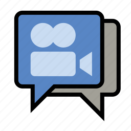 chat, devices, media, video, video chat icon