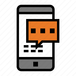 devices, media, sms, text, text message icon