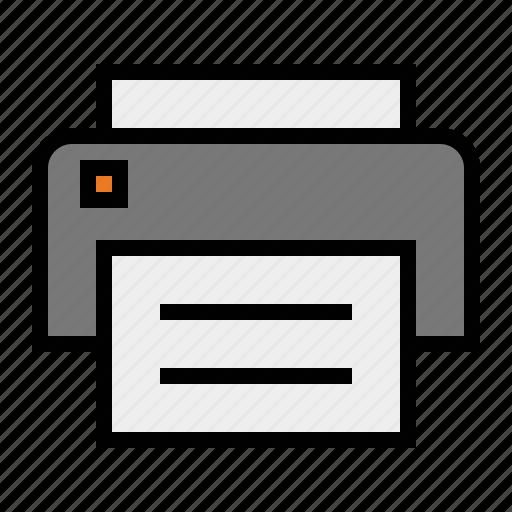 devices, media, print, printer icon