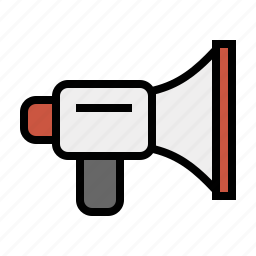 bullhorn, devices, media, megaphone icon