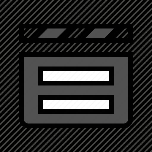 cinema, clapper, devices, media, movie icon