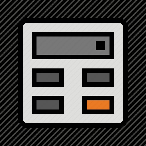 calculate, calculator, devices, media icon