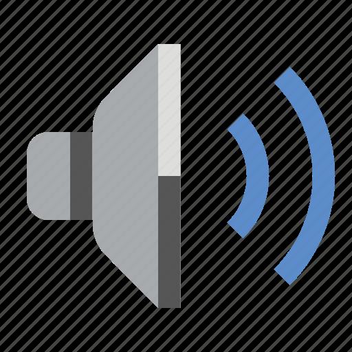 audio, devices, media, sound, speaker, volume icon