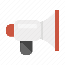 bull horn, devices, media, megaphone icon