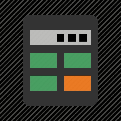 calculator, devices, math, media icon