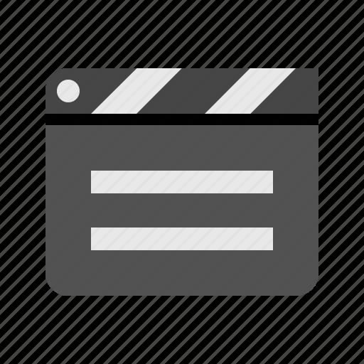 cinema, clapper, devices, film, media, move icon
