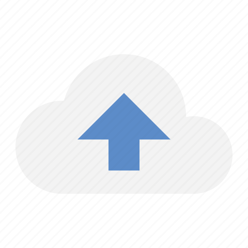 cloud, devices, media, upload icon