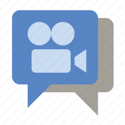 chat, video, video chat, viral video icon