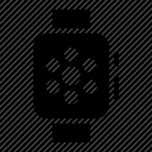 apple watch, clock, smart watch, time, wearable, wrist icon