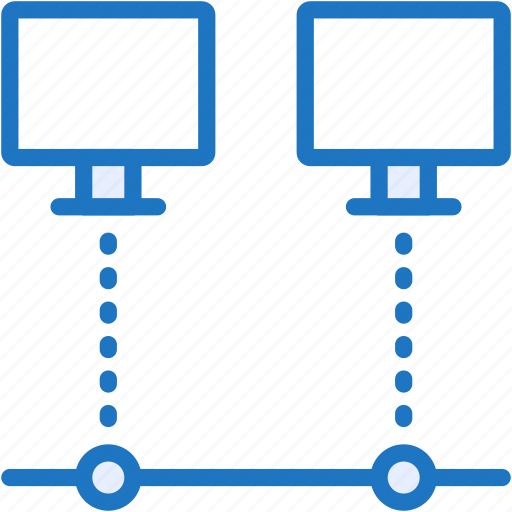 computers, connection, devices, net, pc icon