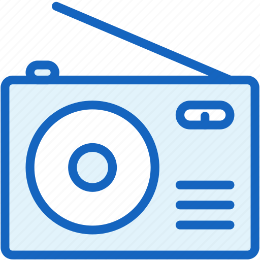 devices, radio, retro, sound icon