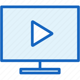 devices, image, technology, tv, video icon
