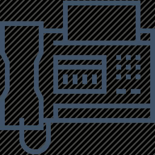 data, fax, send, telephone icon