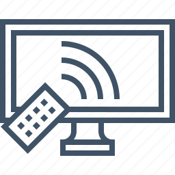 display, remote, screen, smart, tv icon