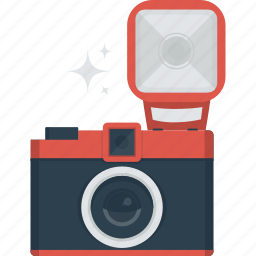 camera, device, flash, photo, photograph, photographer, taking photo icon