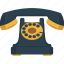 call, communication, device, phone, retro, telephone icon