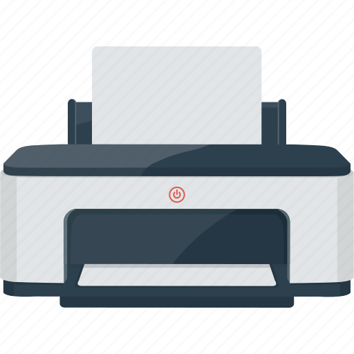 device, paper, print, printer icon