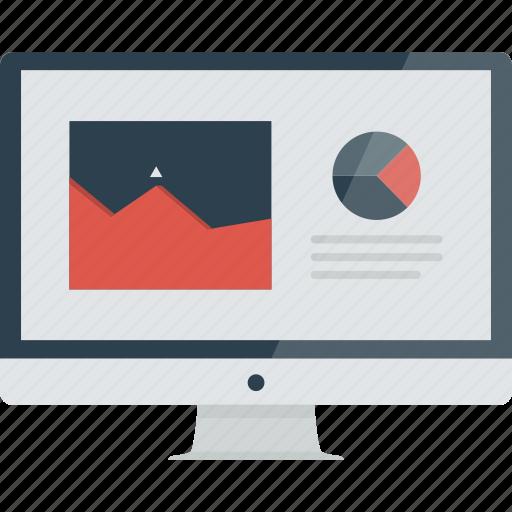 analyzis, computer, diagram, graph, graphs, imac, sales, website icon
