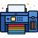 color, device, printer icon