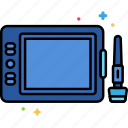 device, drawing, tablet icon
