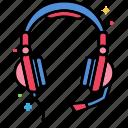 device, gaming, headphones