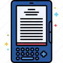 device, ebook, reader icon