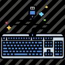 device, keyboard, mechanical icon