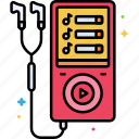 device, mp3, player icon