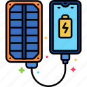 charger, panel, solar icon