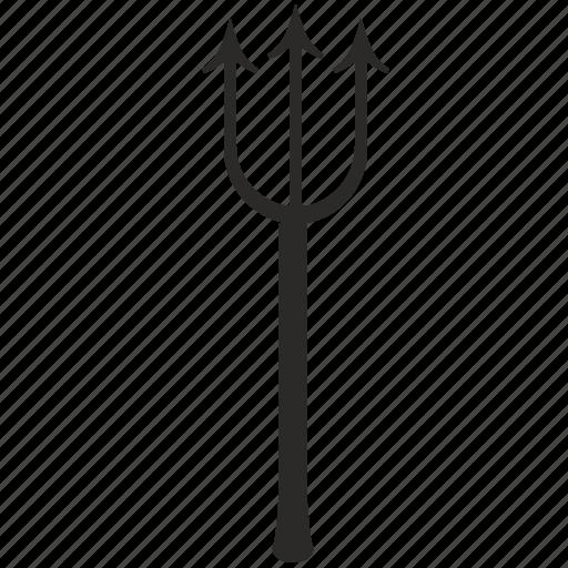 devil, hell, instrument, trident icon