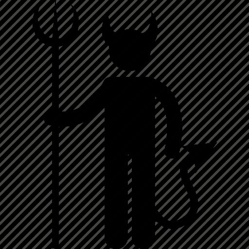 bad, devil, evil, hell, lucifer, satan, weapon icon