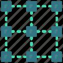 architecture, blocks, pattern icon